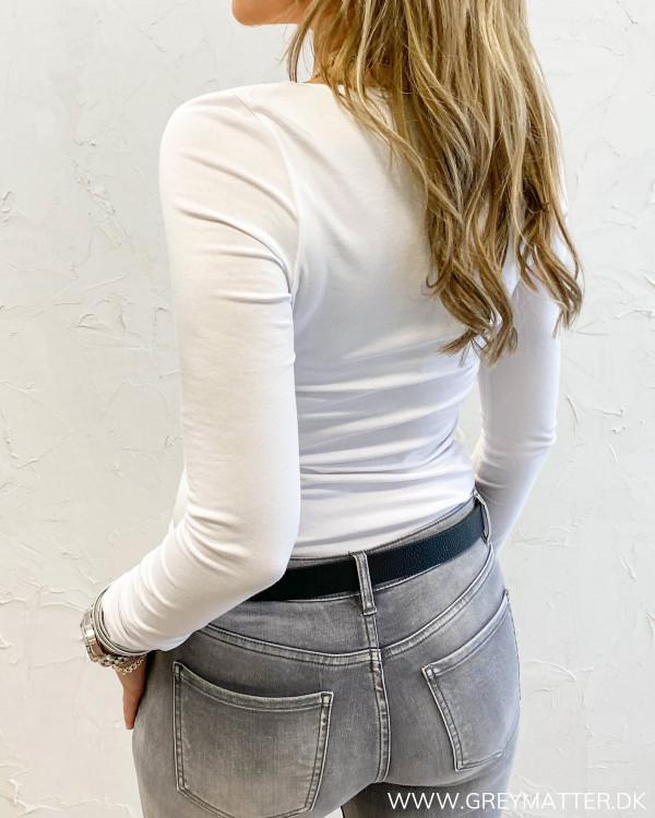 Viofficiel New Long White Sleeve Top