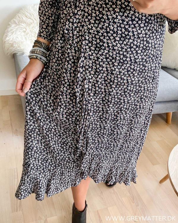 Pieces kjole med print