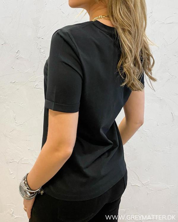 Sort T-shirt fra Pieces
