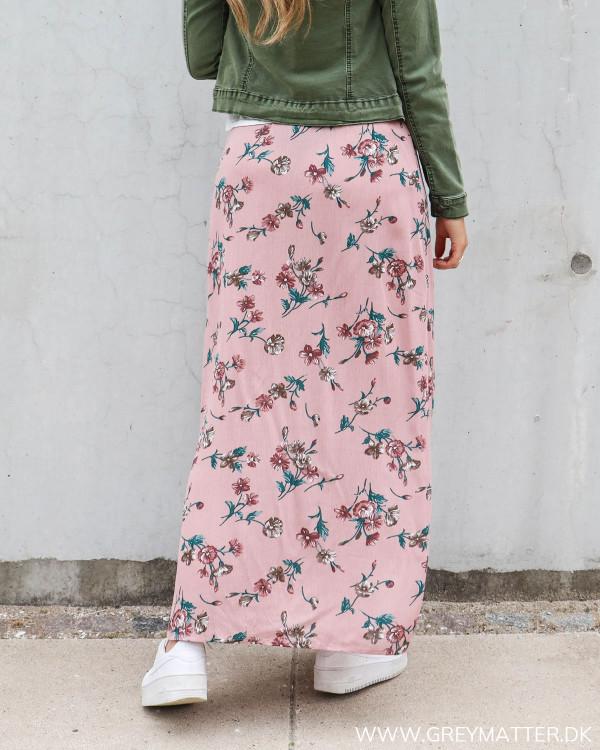 Lang nederdel med print