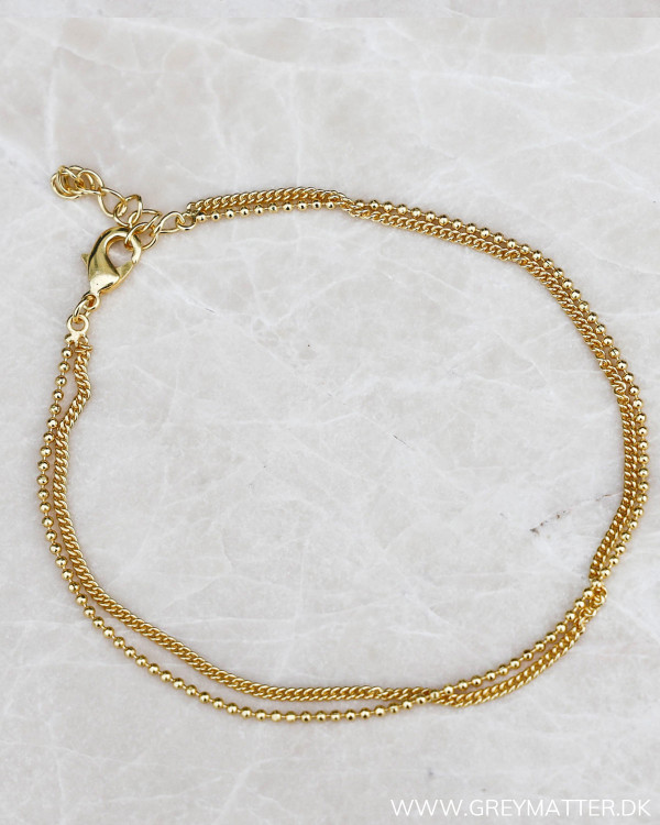Double Golden Ankle Chain