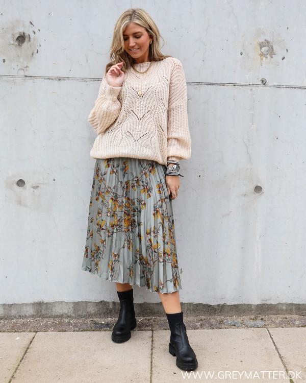 Karmamia nederdel med plisse
