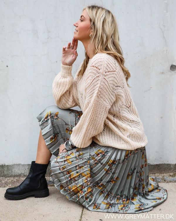 Smuk nederdel med plisse