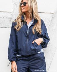 Viaveryn Navy Rain Jacket