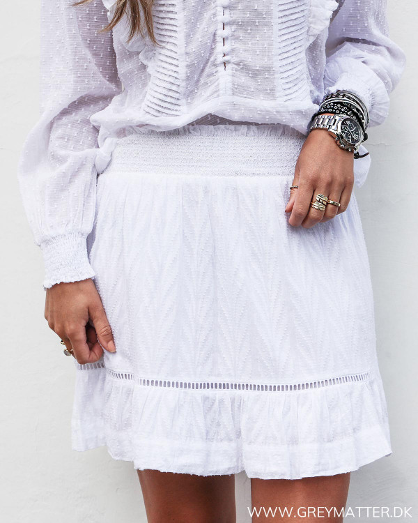 Neo Noir hvid nederdel