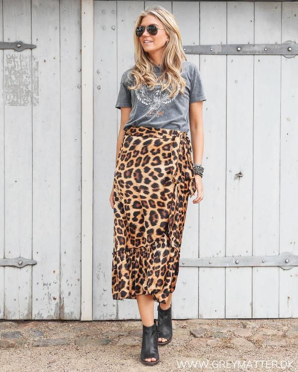 Karmamia Nederdel med leopard print
