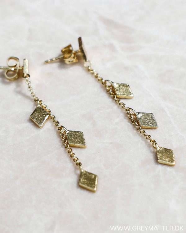 Trapez Long Golden Earrings