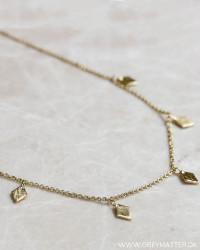 Trapez Golden Necklace