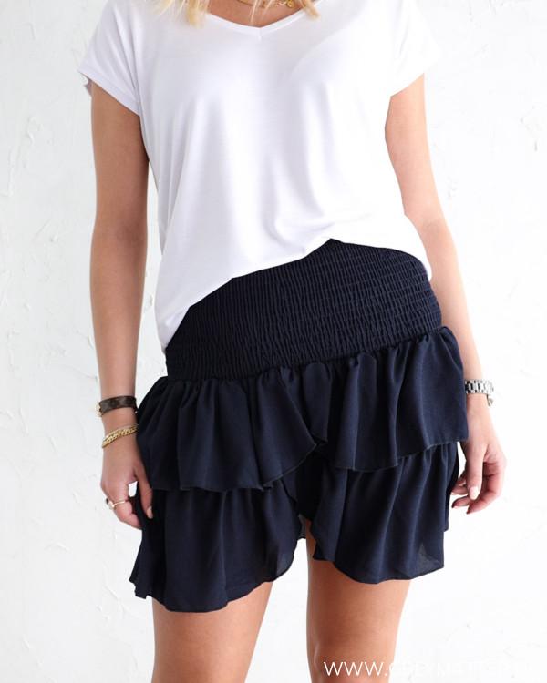 Neo Noir Carin Navy Skirt