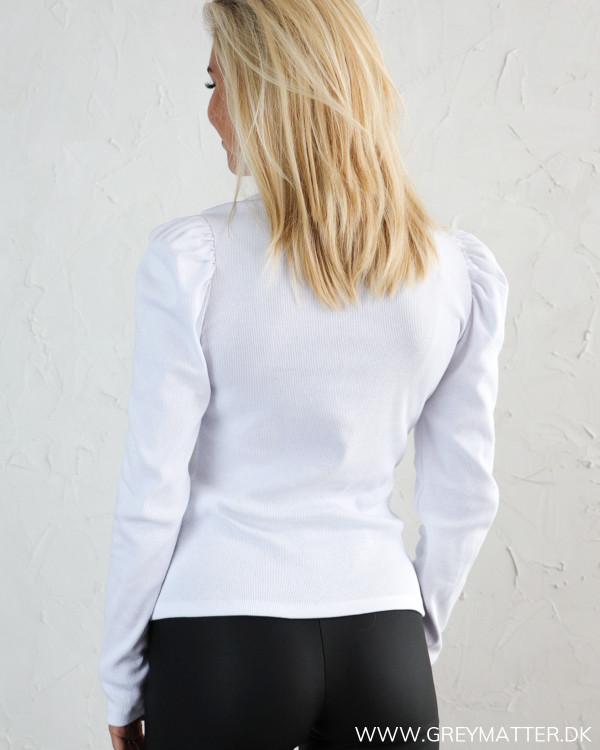 Pieces langærmet hvid bluse