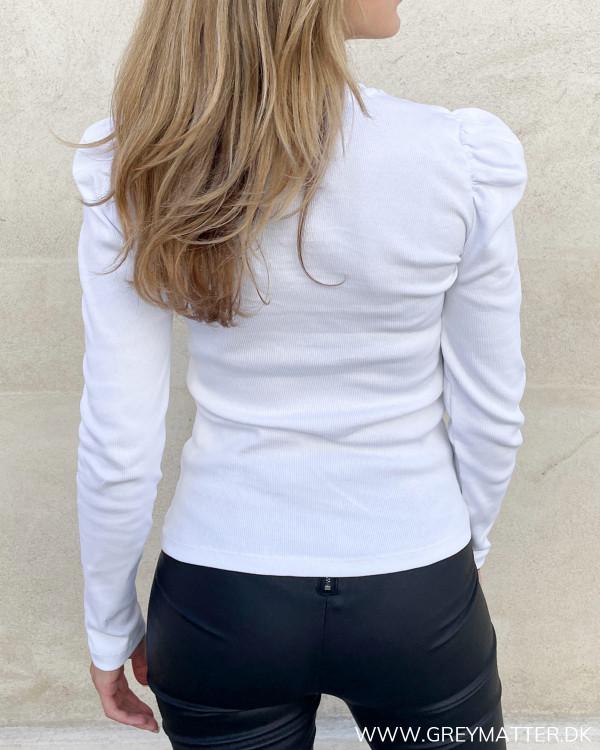 Pieces populære pcanna blouse med puf og rib