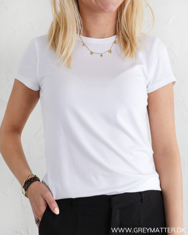 Hvid klassisk t-shirt