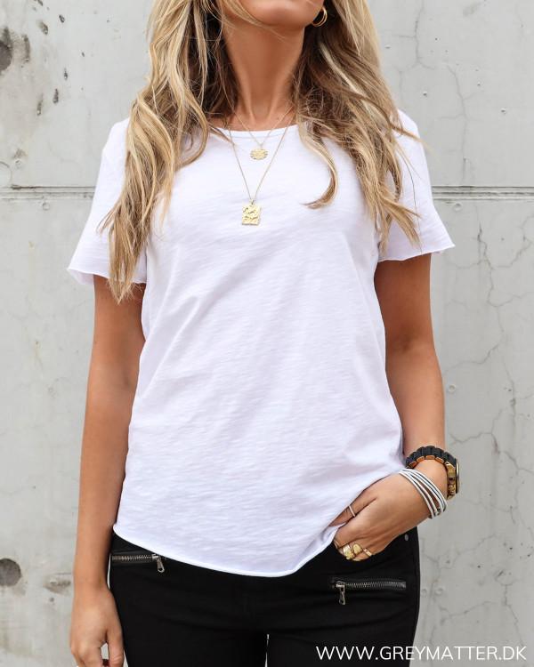 T-shirt i hvid bomuld til damer
