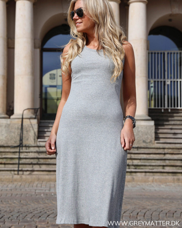 Classic Grey Rib Dress