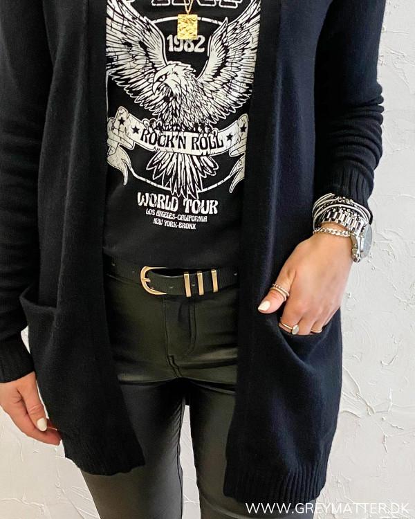 Vila Viril Open Black Knit Cardigan