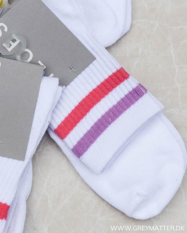 Pccally Bright White Pink-Purple Socks