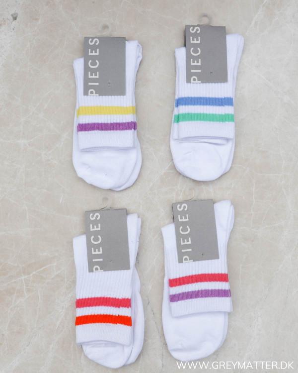 Pccally Bright White Yellow-Purple Socks