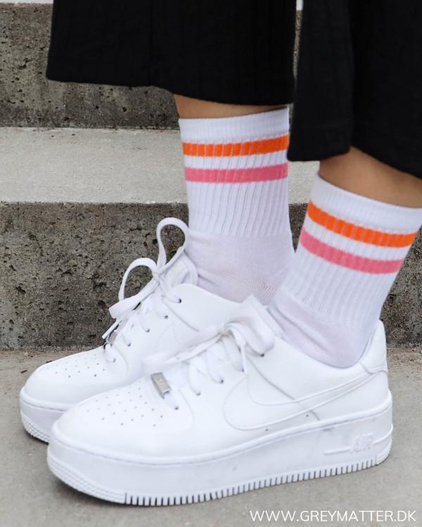 Pccally Bright White Pink-Orange Socks