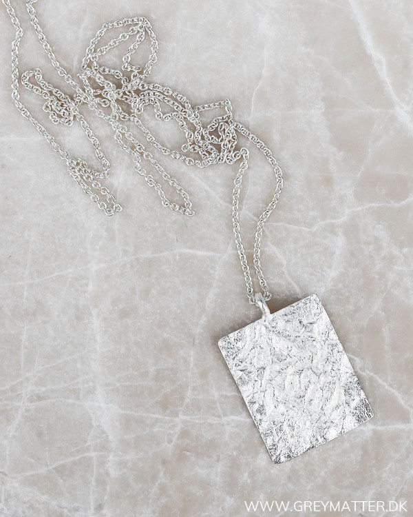 Plated Silver Necklace fra Pure By Nat