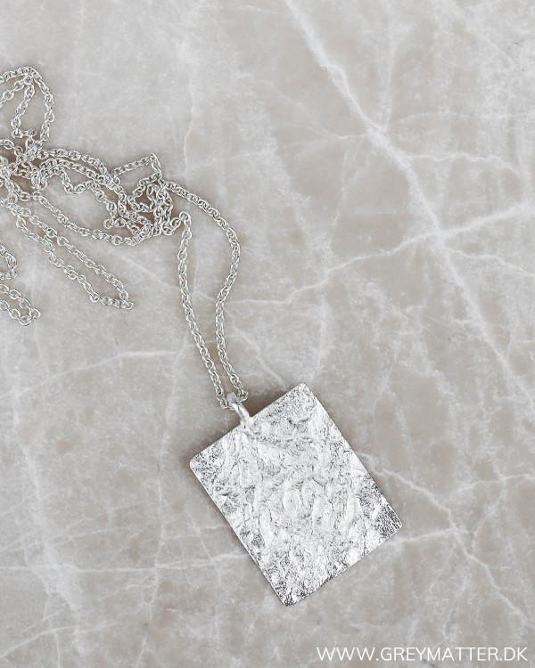 Plated halskæde i sølv