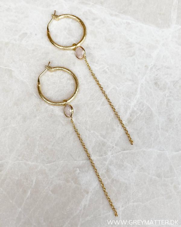 Runde hoops med kæde fra Pure By Nat
