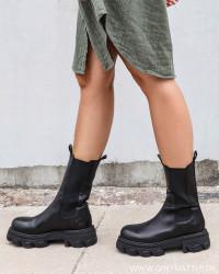 Mega Chuncky Elast Black Boots