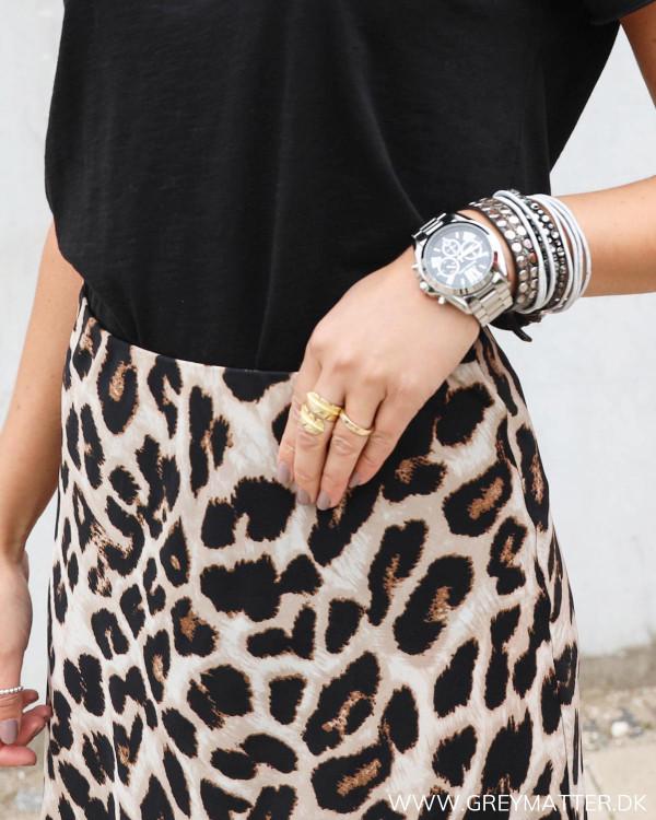 Bovary nederdel fra Neo Noir med leopard print