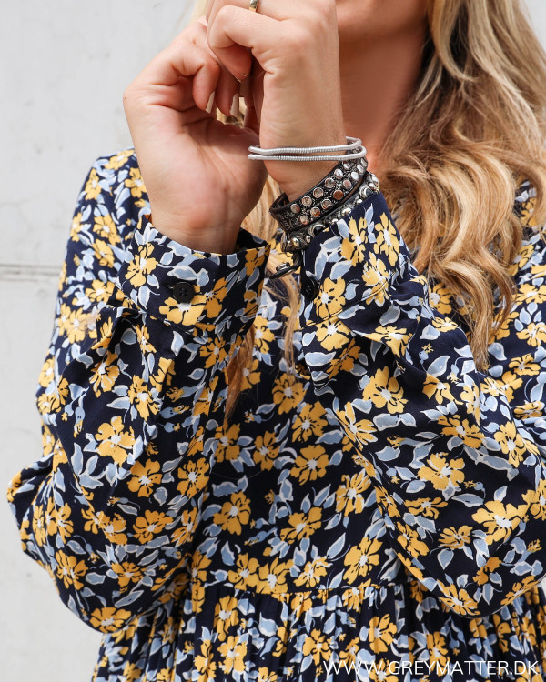 Pieces kjole med lange ærmer