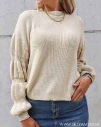 Pcrill O-Neck Fog Knit