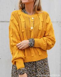 Vidita Mineral Yellow O-Neck Knit